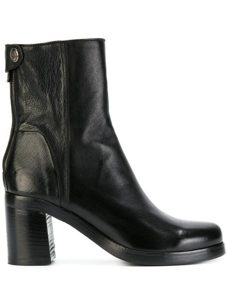 ALBERTO FASCIANI women leather black shoes