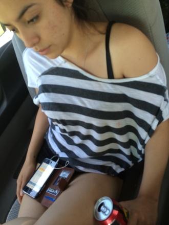 shirt white and grey stripe
