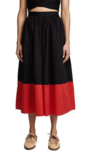 Mara Hoffman pants black red
