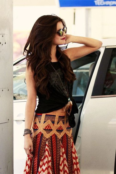 shirt maxi skirt