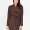 Play with drape belted jacket brown burgundy dkgrey olive black - gojane.com