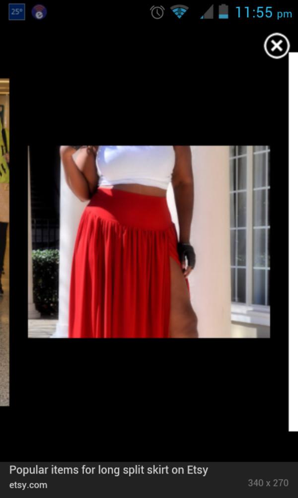 skirt maxi skirt high split