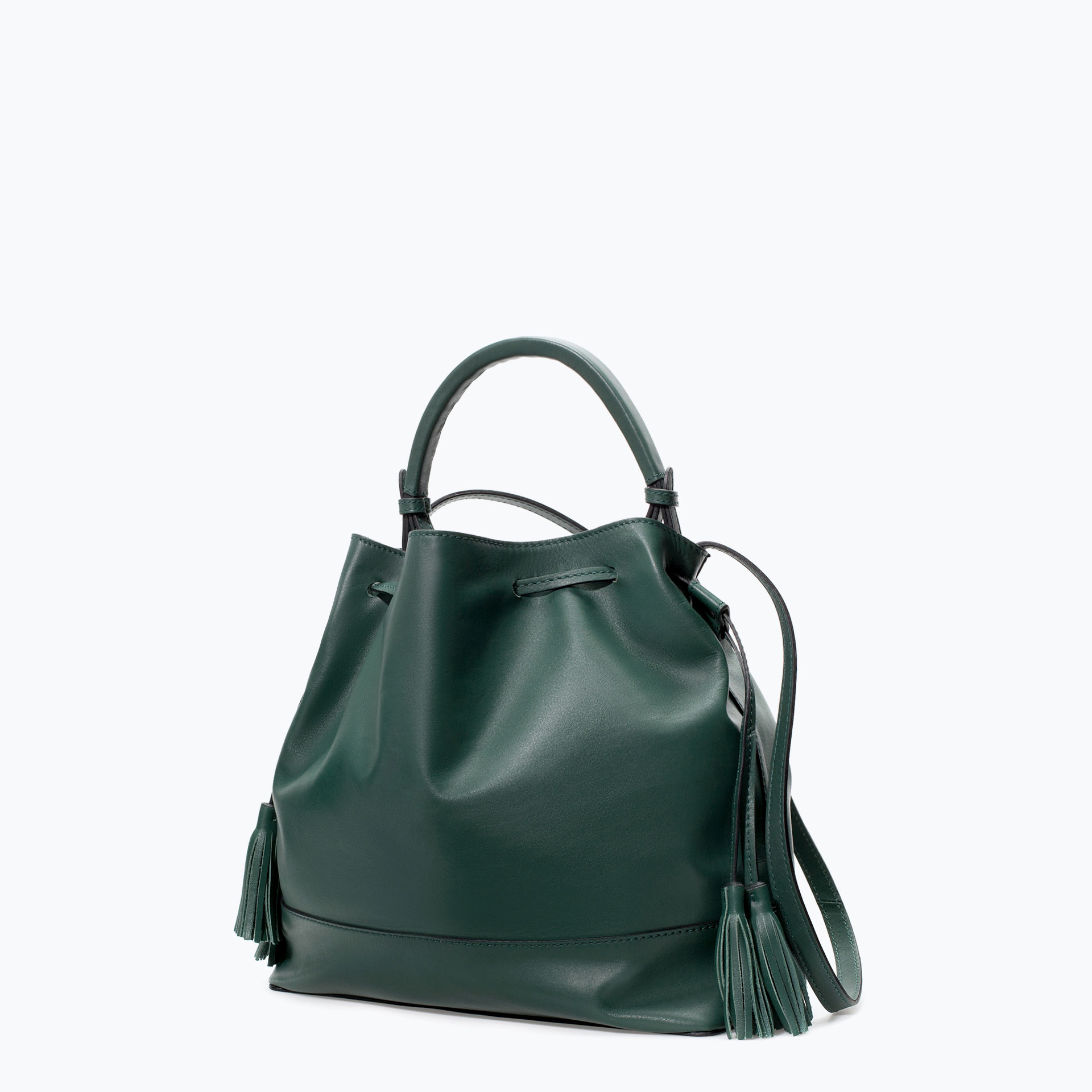 BAG WITH RIGID HANDLE Handbags WOMAN ZARA Albania