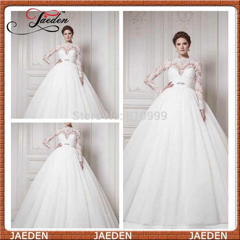 Aliexpress Buy Pw189 Classic Vintage Ball Gown Sheer Long