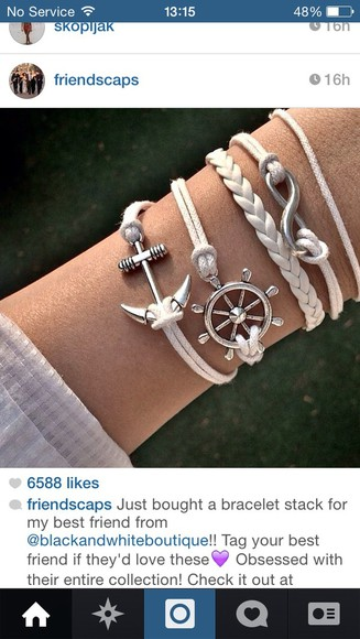 anchor jewels nautical bracelet