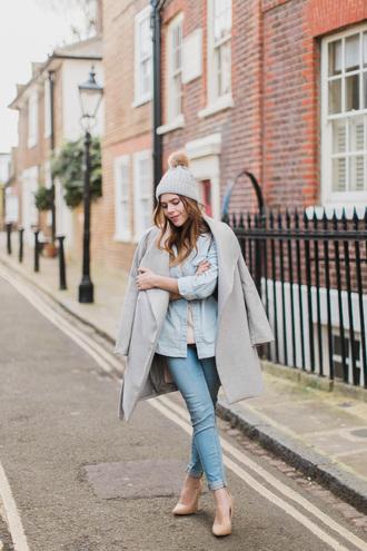 wish wish wish blogger coat shirt jeans sweater shoes hat