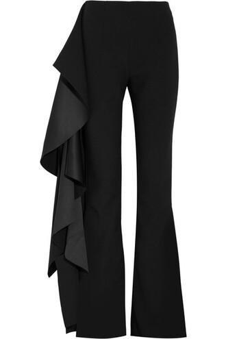 pants black satin