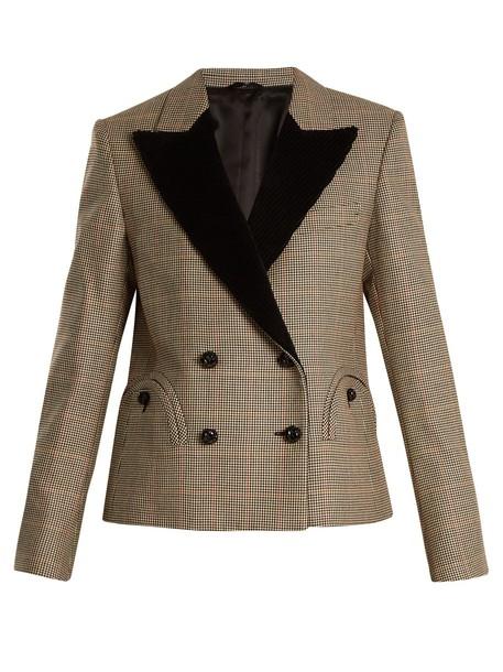 BLAZÉ MILANO If And When Pow velvet-lapel blazer in black / white