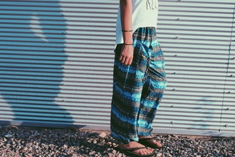 pants style fashion boho boho chic bohemian gypsy hippie elephant blue skirt cozy summer shorts beach
