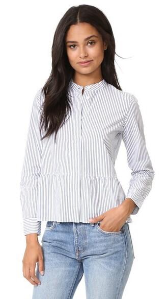 shirt peplum shirt white top