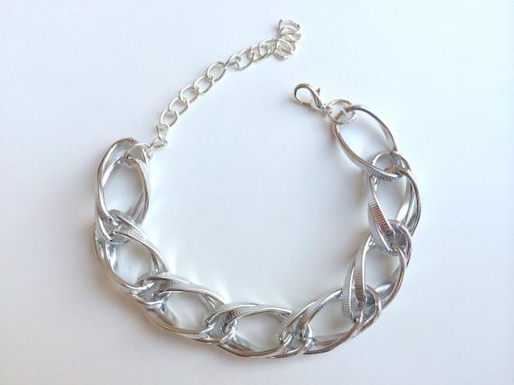 Braided chain – silver