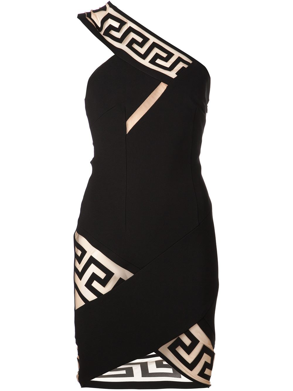Anthony vaccarello x versus versace fitted dress