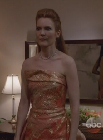 dress coral gold gown scandal abby whelan darby stanchfield