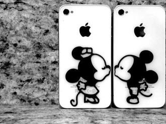 phone cover white phone cases minie mouse mickey mouse minnie and mickey iphone 5 case