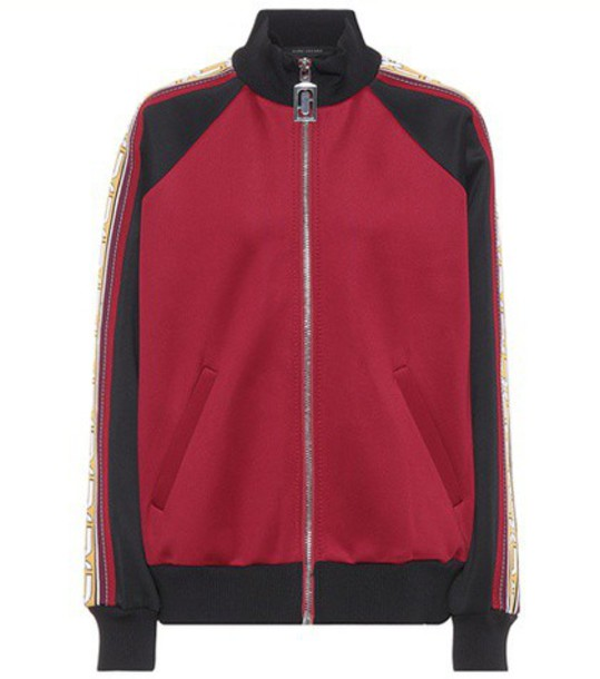 Marc Jacobs Jersey track jacket in red