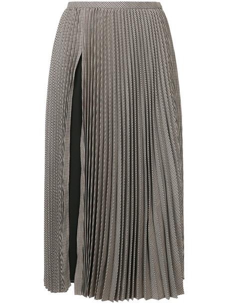 Le Ciel Bleu skirt midi skirt pleated women midi wool brown
