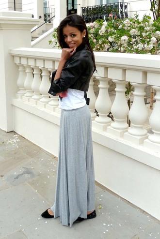 skirt maxi skirt heather grey black girls killin it red lime sunday