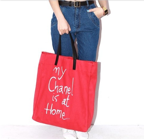 a3117c6ee290 Noirlu | 'My Chanel is at Home' Letters Canvas Bag | Online Store Powered  by Storenvy