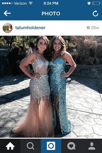 dress prom prom dress sequin dress champagne