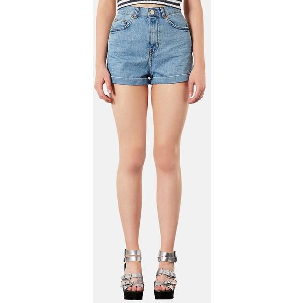 Topshop High Rise Denim Shorts Light Denim 4 - Polyvore