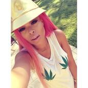 versace hat,weed shirt,weed,versace,bucket hat,tyga,blac chyna,hat