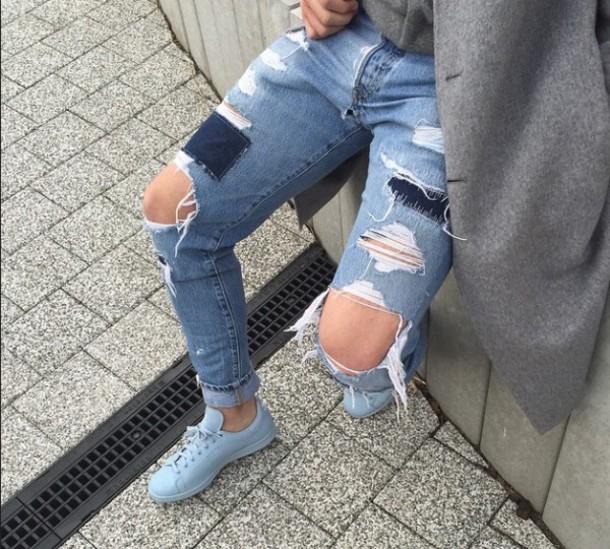 shoes, blue, adidas, jeans, light blue