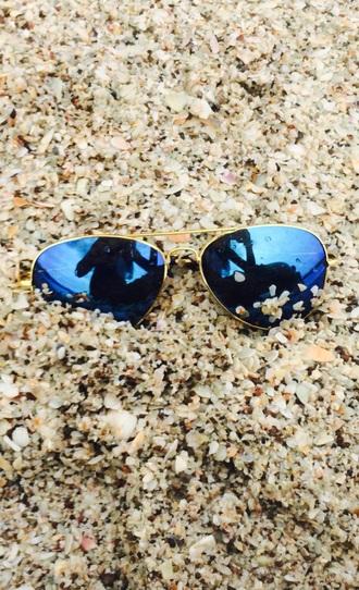 sunglasses blue mirror aviator sunglasses