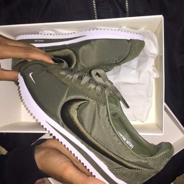 quality design 6ec93 71c4c Nike | Green Olive Classic Cortez Trainers | Lyst