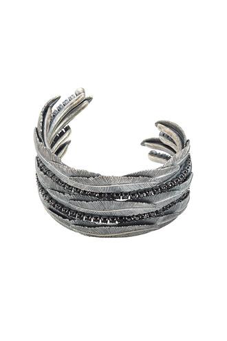 cuff embellished cuff bracelet silver jewels