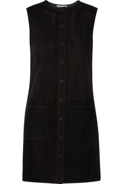 Helmut Lang - Suede Mini Dress - Black
