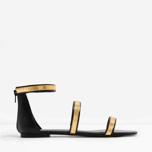 basic sandals black shoes