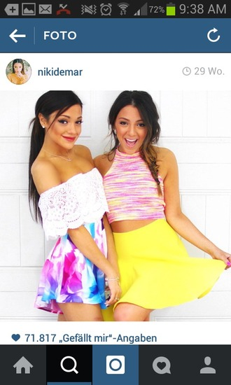dress flowers summer summer dress niki and gabi niki demartio gabi demartino spring summer outfits neon lace dress