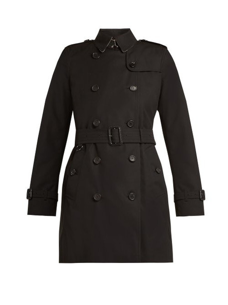 Burberry - Kensington Belted Cotton Trench Coat - Womens - Black