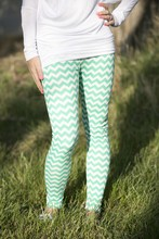 Mint Chevron Legging Pant - ShoeParty.com