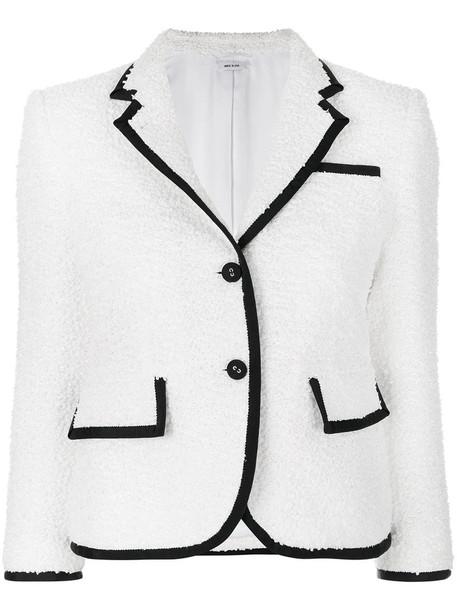 Thom Browne coat women classic white silk