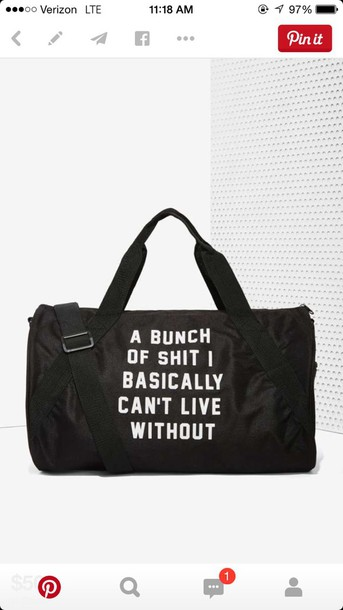 bag hipster cute funny travel bag