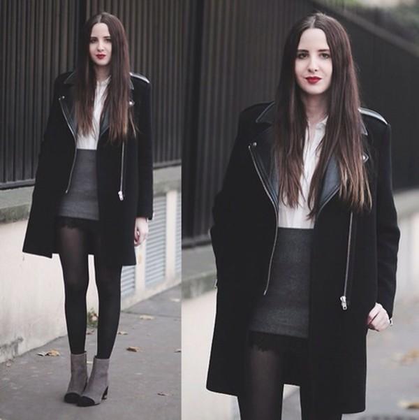 coat blouse skirt