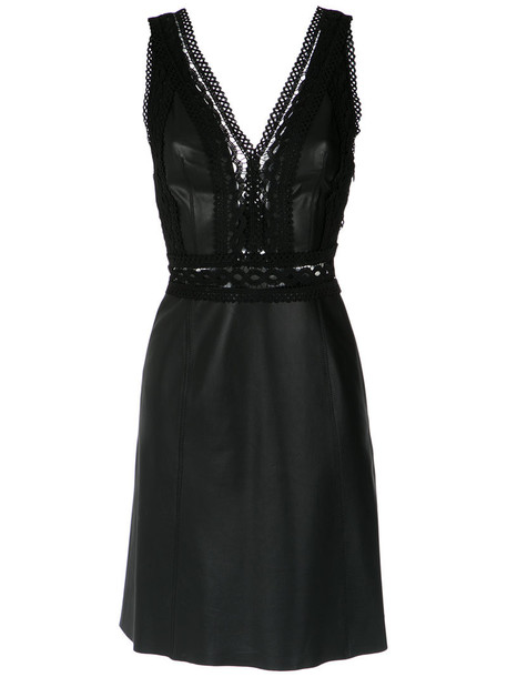 dress women leather black