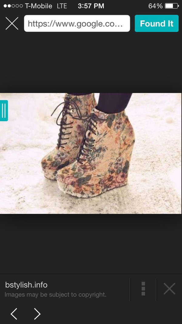 shoes funny heels floral platform high heels