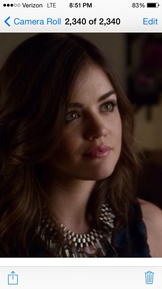 jewels aria montgomery pretty little liars season 3 crystal chain statement necklace