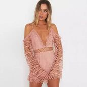 romper,shanghai trends,plunge romper,lace,lace romper,aw17,boho,boho chic,plunging