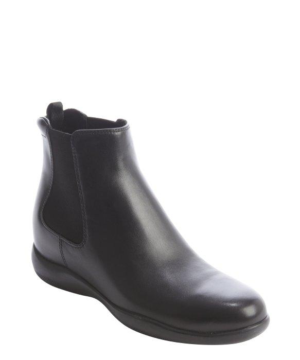 Prada black calfskin Chelsea boots | BLUEFLY up to 70% off designer brands