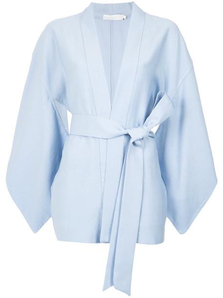 Giuliana Romanno kimono blouse kimono style style women blue top