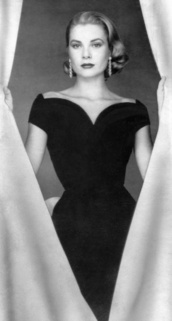 dress,black,black dress,bow,grace kelly