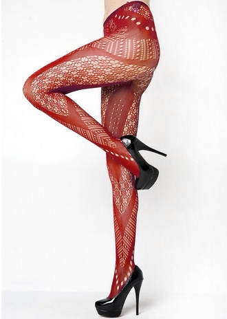 tights red underwear redheels pantyhose leggings halloween halloween accessory sexy lingerie red high heels red lace hot tumblr cutout jeans cute chic seductive siren