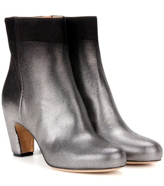 suede ankle boots metallic boots ankle boots suede silver shoes