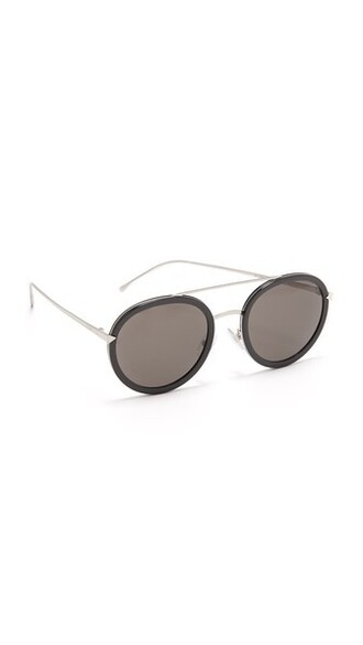 sunglasses round sunglasses black brown