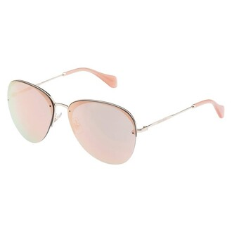 sunglasses miu miu rose gold pink sunglasses