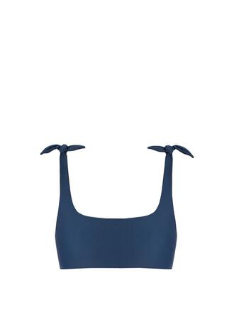 bikini bikini top dark blue dark blue swimwear