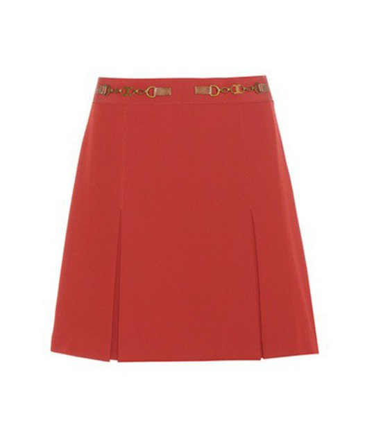 Tory Burch Silla Skirt in red